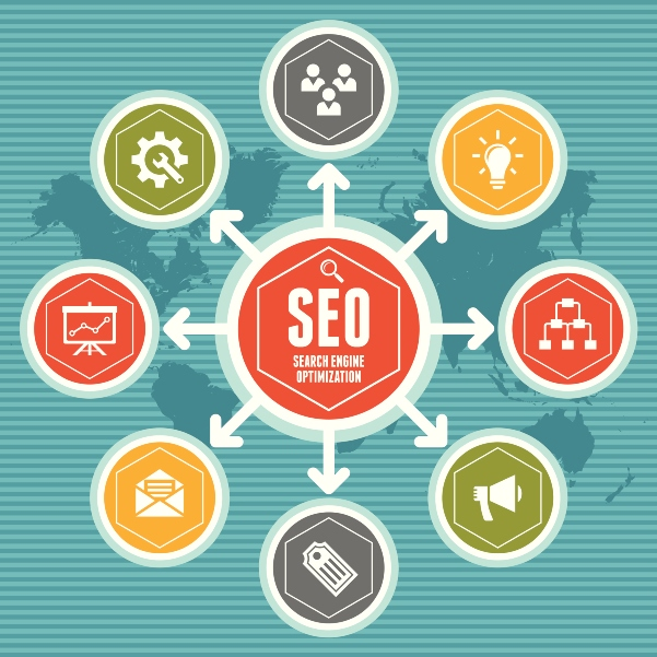 SEO (Search Engine Optimization) Infographic Concept 01